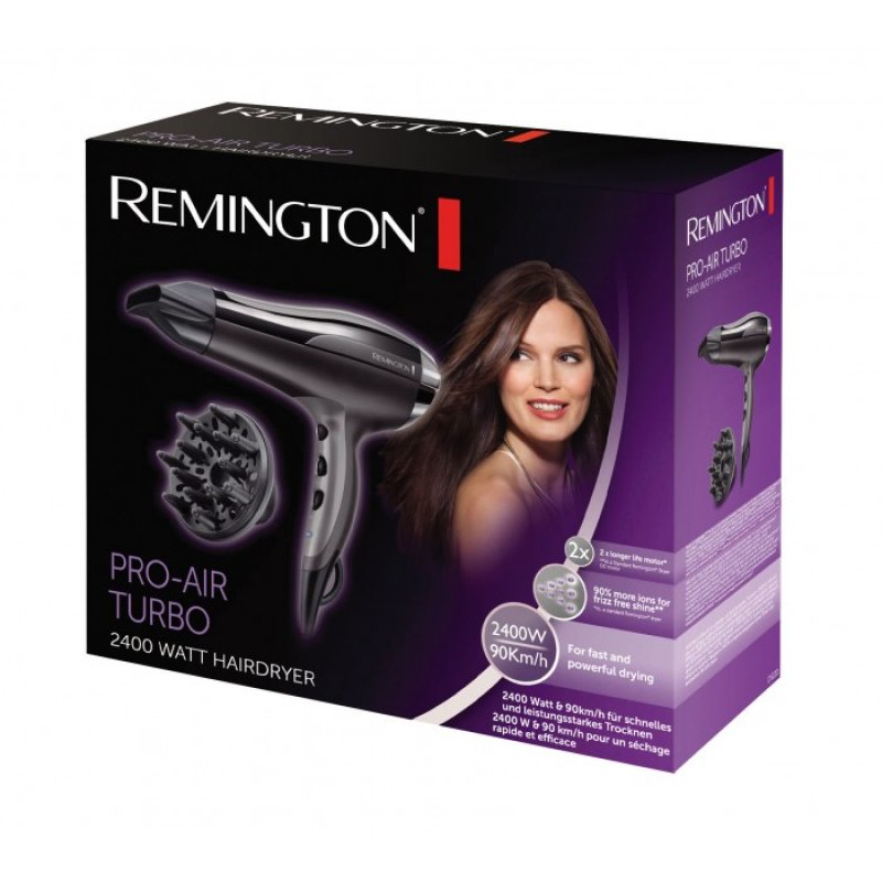 Remington D5220 πιστολάκι σεσουάρ μαλλιών Ισχύς 2400W με 3 ρυθμίσεις θερμοκρασίας και 2 ρυθμίσεις ταχύτητας