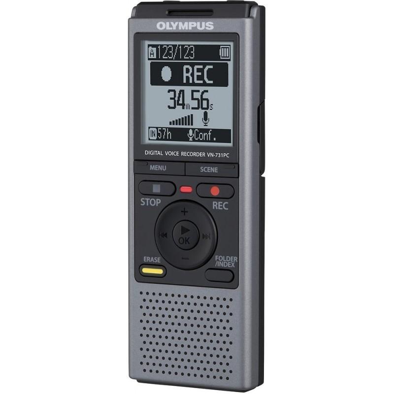 Olympus VN-731PC ψηφιακό δημοσιογραφικό με μνήμη 2 GB και δυνατότητα εγγραφής μέχρι 790 ώρες