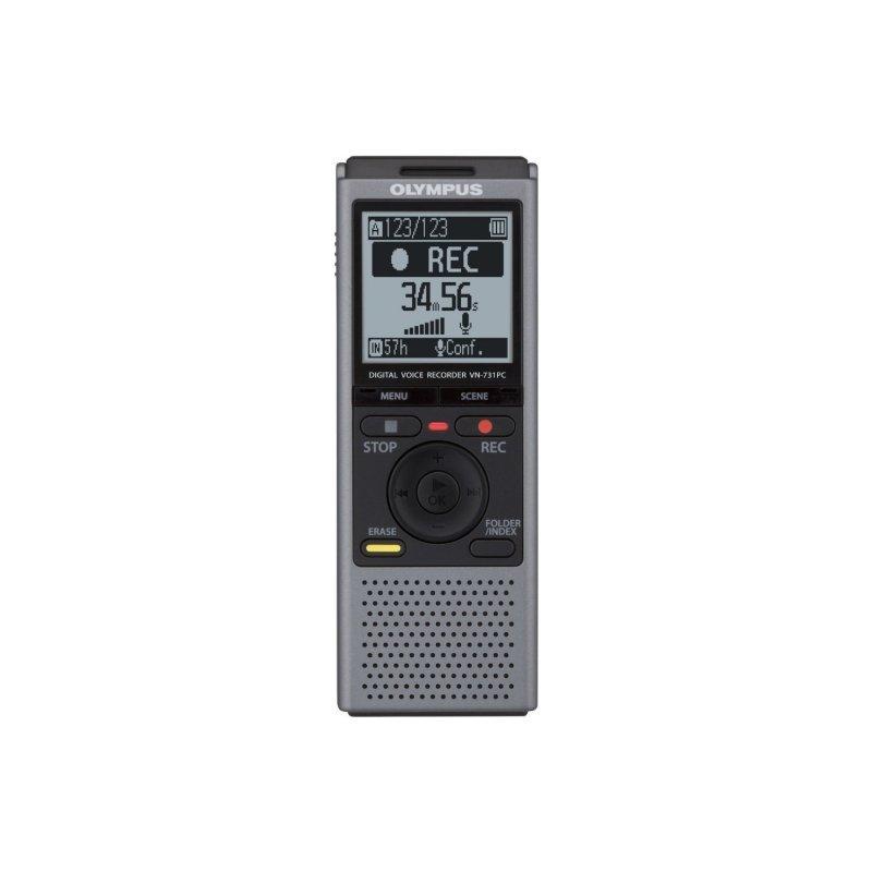 Olympus VN-731PC ψηφιακό δημοσιογραφικό με μνήμη 2 GB και δυνατότητα εγγραφής μέχρι 790 ώρες και σύνδεση στον υπολογιστή