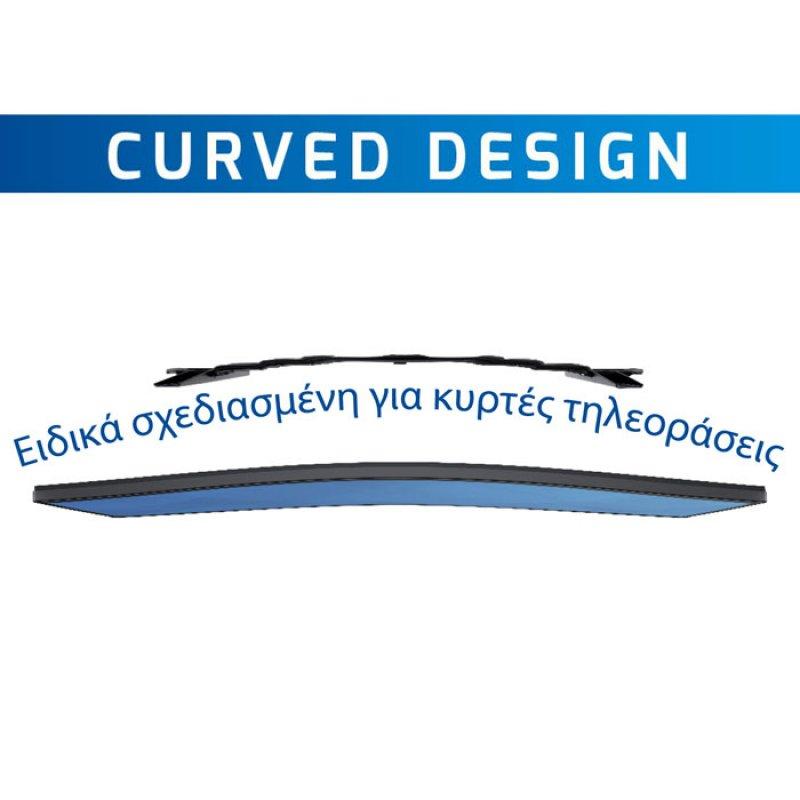 Επιτοίχια βάση τηλεόρασης ειδικά σχεδιασμένη για curved κυρτές τηλεόρασεις 32''-80''