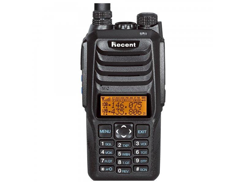 Φορητός πομποδέκτης Dual Band VHF/UHF ισχύος 10W Recent RS-589