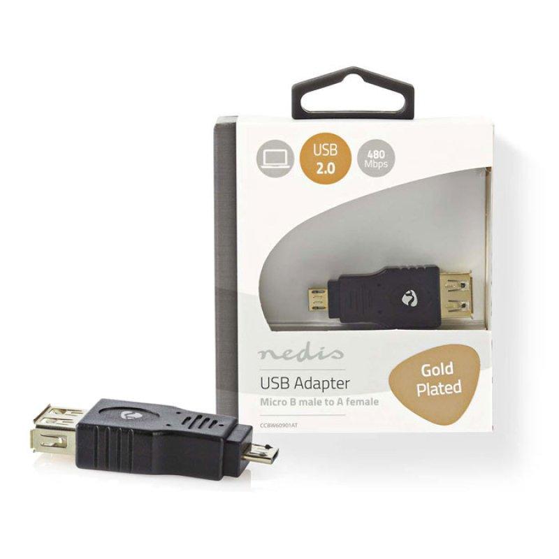 Nedis  Αντάπτορας USB 2.0 Α θηλ. - USB micro B αρσ.