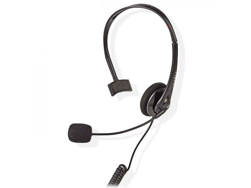Νedis Ακουστικά κεφαλής με βύσμα RJ9 για σταθερά τηλέφωνα