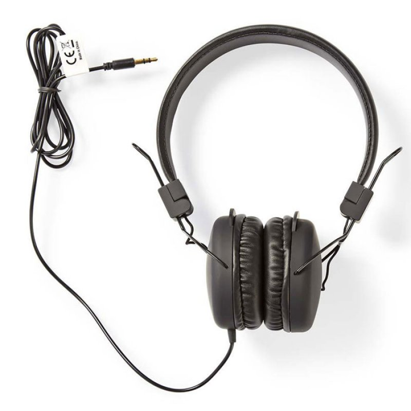 On-ear ακουστικά με καλώδιο 1.20m, σε μαύρο χρώμα
