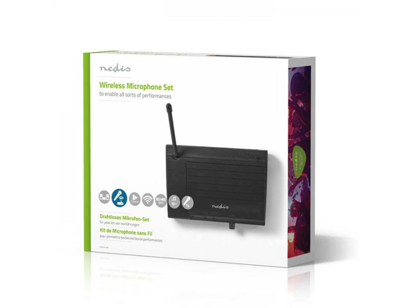 Nedis Ασύρματο σύστημα μικροφώνου με 1 κανάλι