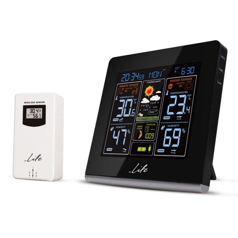 Ασύρματος Μετεωρολογικός Σταθμός με έγχρωμη ψηφιακή οθόνη LCD