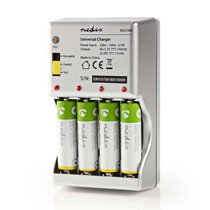 Φορτιστής για μπαταρίες ΑΑ/ΑΑΑ/9V με λειτουργίες αποφόρτισης και ελέγχου κατάστασης