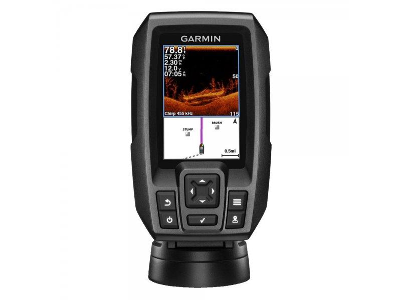 "Garmin Striker 4dv GPS Πλοήγησης με οθόνη 3.5"" με βυθόμετρο και ανιχνευτή ψαριών."