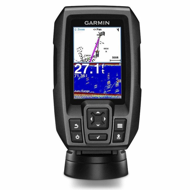 "Garmin Striker 4 GPS Πλοήγησης με οθόνη 3.5"" με βυθόμετρο και ανιχνευτή ψαριών."