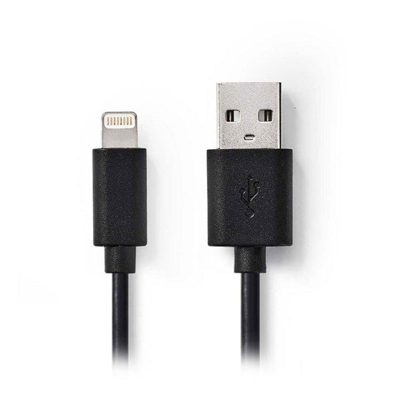 Nedis  Καλώδιο Lightning σε USB, για φόρτιση και μεταφορά δεδομένων, 2m.