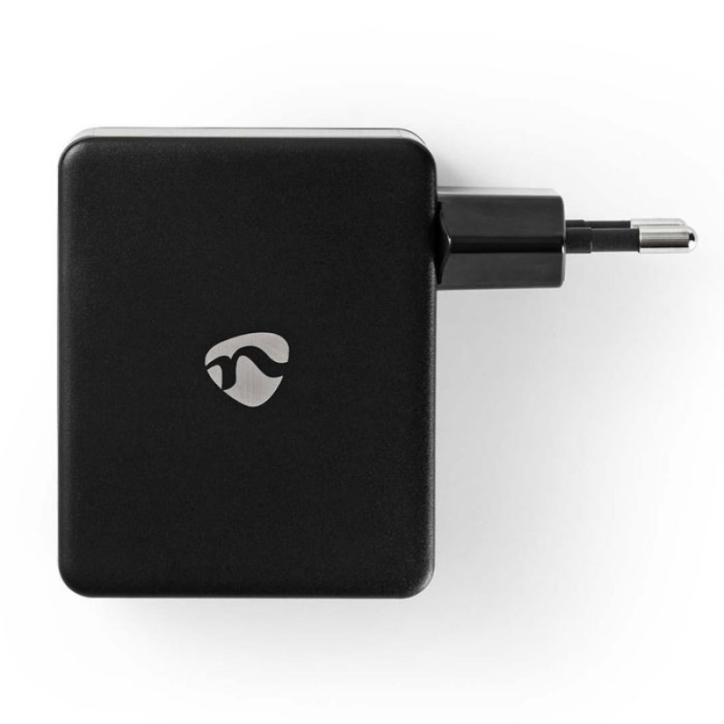 Nedis  Universal φορτιστής με 4 εξόδους USB, 4.8Α σε μαύρο χρώμα