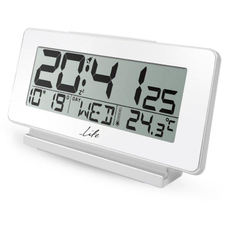 Life Ψηφιακό ρολόι / ξυπνητήρι με θερμόμετρο εσωτερικού χώρου, ημερομηνία και οθόνη LCD