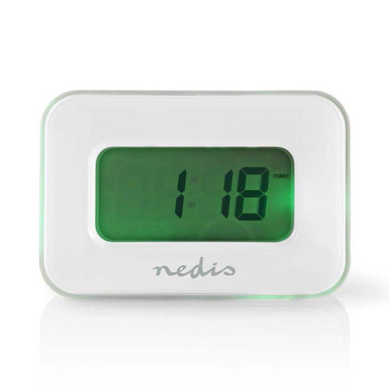 Nedis Ψηφιακό ρολόι / ξυπνητήρι με θερμόμετρο εσωτερικού χώρου και φωτιζόμενη οθόνη LCD