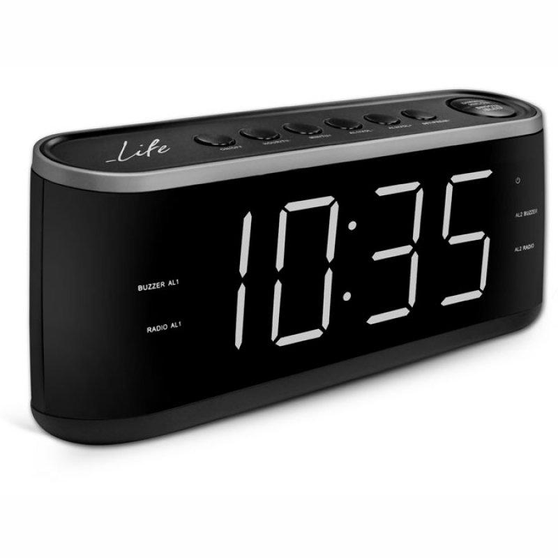 Επιτραπέζιο ρολόι ξυπνητήρι με ραδιόφωνο ΑΜ/FM με μεγάλα ψηφία