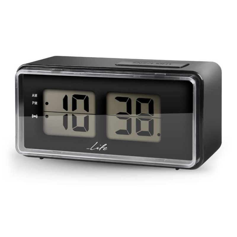 Life Ψηφιακό ρολόι / ξυπνητήρι με οθόνη LCD και retro flip design