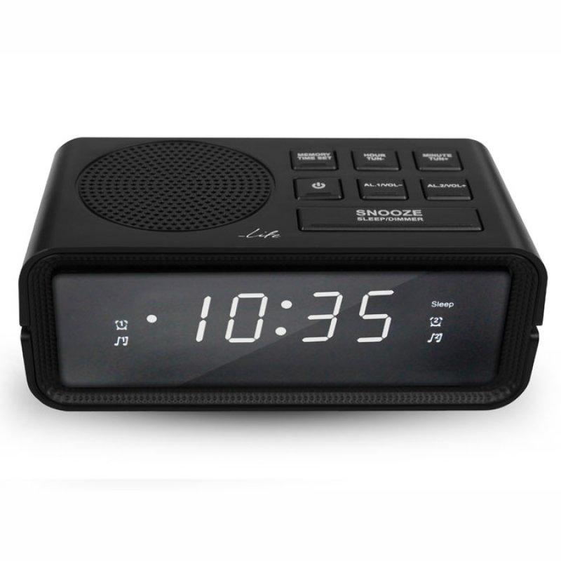 Επιτραπέζιο ρολόι-ξυπνητήρι Life  με ραδιόφωνο