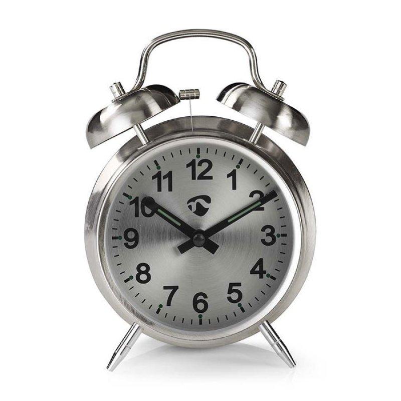 Nedis  Επιτραπέζιο αναλογικό ρολόι-ξυπνητήρι, με ρετρό design