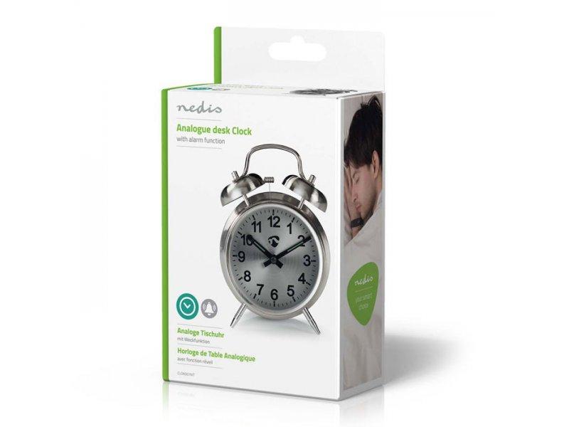 Nedis  Επιτραπέζιο αναλογικό ρολόι-ξυπνητήρι