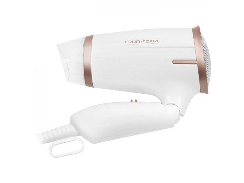 Σεσουάρ μαλλιών 1400W, με αναδιπλούμενη λαβή, σε λευκό/σαμπανί χρώμα