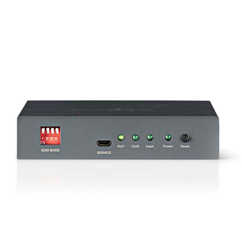 Splitter HDMI 2 θυρών, με λειτουργία EDID και με υποστήριξη 4Κ2Κ και 3D