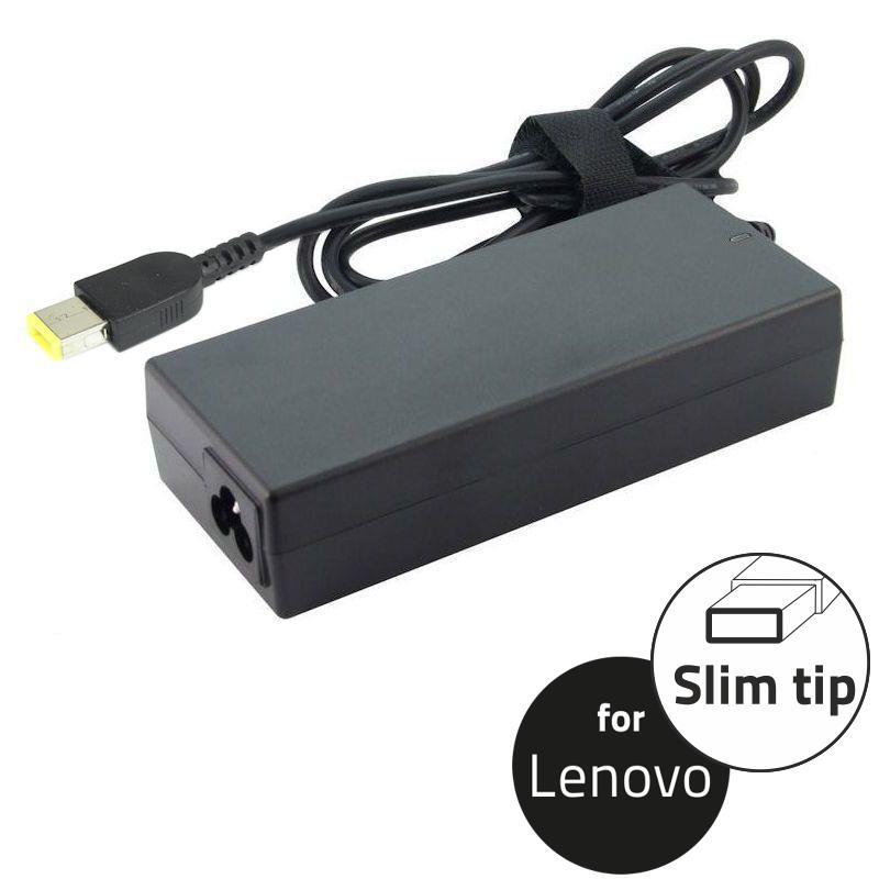 Τροφοδοτικό για laptop Lenovo,συμβατό με όλα τα μοντέλα που τροφοδοτούνται με 20V/3.25A DC με βύσμα τετράγωνο κίτρινο