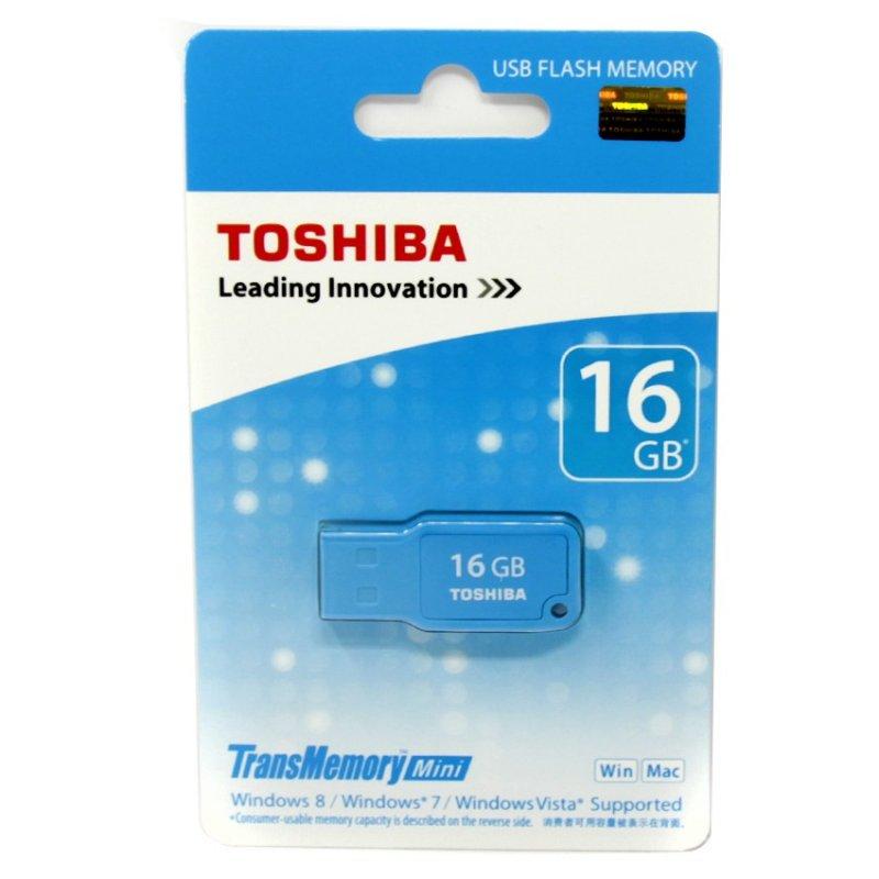 USB 2.0 stick mini 16GB, σε γαλάζιο χρώμα Toshiba