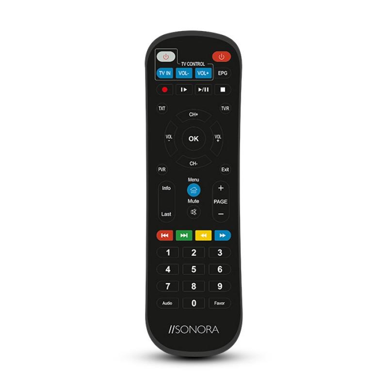 Sonora DVB-T2 H265 Επίγειος Ψηφιακός Δέκτης MPEG-4 / H.265 / FULL HD, Με Τηλεχειριστήριο 2 σε 1 Για Τηλεόραση Και Δέκτη.
