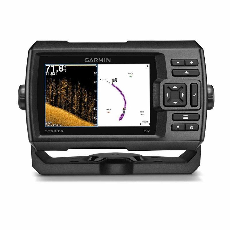 "Garmin Striker 5dv GPS Πλοήγησης με οθόνη 5"" με βυθόμετρο και ανιχνευτή ψαριών."