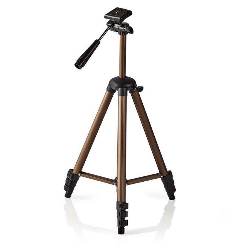 Τρίποδας αλουμινίου με max ύψος 128 cm για φωτογραφικές μηχανές και βιντεοκάμερες.