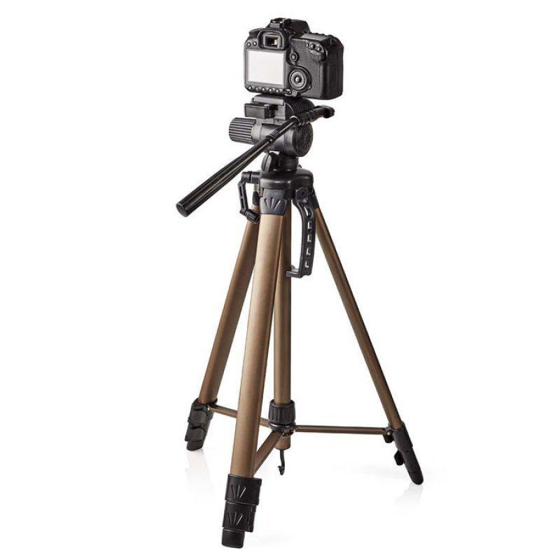 Τρίποδας αλουμινίου με max ύψος 161 cm για φωτογραφικές μηχανές και βιντεοκάμερες.