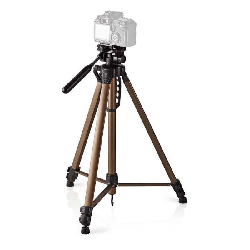 Τρίποδας αλουμινίου με max ύψος 163 cm για φωτογραφικές μηχανές και βιντεοκάμερες
