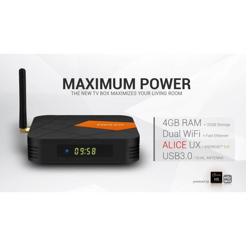 Tv Box I96 Android 9.0 Pie Kodi 18.3 Allwinner Cpu 4GB Ram 32GB Rom Bluetooth 2,4G+5G
