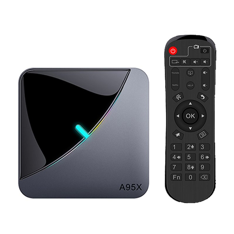 TV Box A95X F3 Air Amlogic S905x3 Android 9.0 8K Netflix Bluetooth 4GB Ram 64GB Rom 2,4GHz-5GHz Wi-Fi