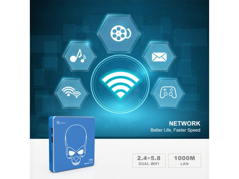 Tv Box Beelink Gt KING Pro S922-H Android 9.0 Dolby DTS