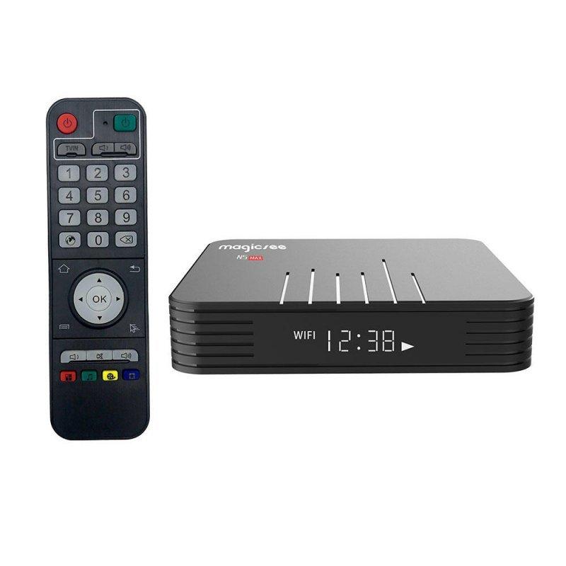 Tv Box MAGICSEE N5 MAX Amlogic Android 9.0 Netflix Bluetooth 4GB Ram 32 Rom 2,4 GHz-5GHz