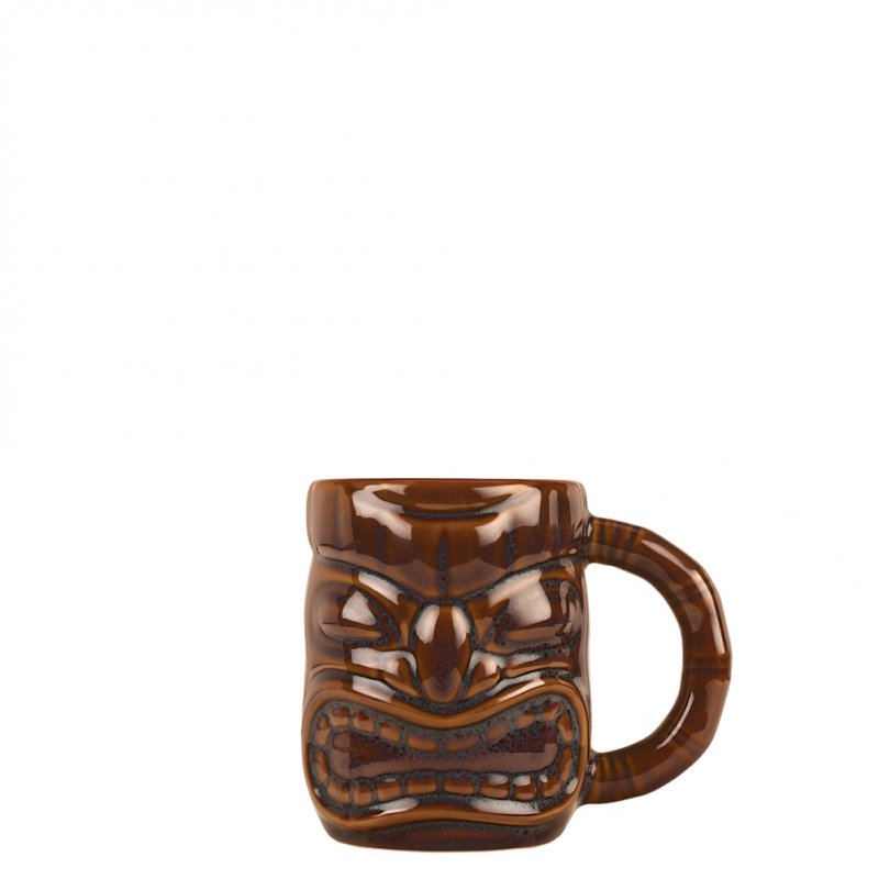 Σετ 6 Κούπες Tiki 47.3cl, φ12.7x10.2cm, Καφέ, με χερούλι, LIBBEY