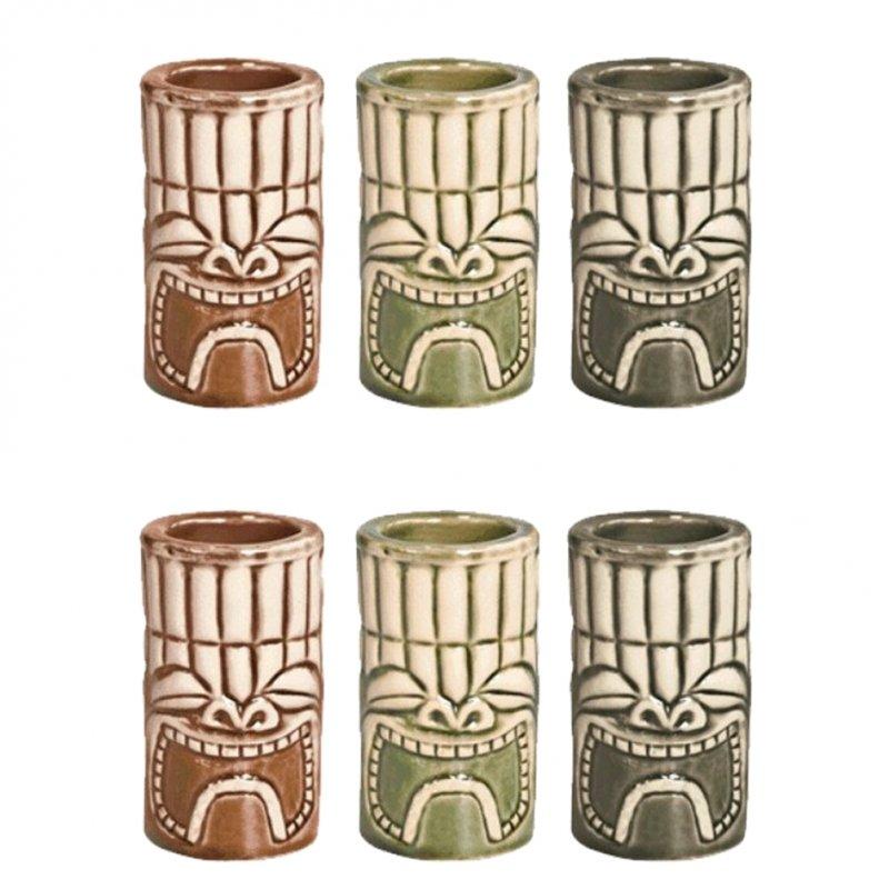 Σετ 6 ποτήρια σφηνάκια Tiki 4cl, φ5x8.5cm, APS Bar Supply