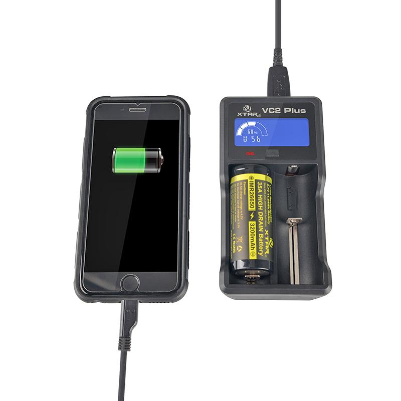 Φορτιστής μπαταριών XTAR Master VC2 Plus για 10440/14500/14650/16340/17335/17500/17670/18350/18490/18500/18650/18700/22650/25500/26650/32650/ΑΑΑΑ/AAA/AA/A