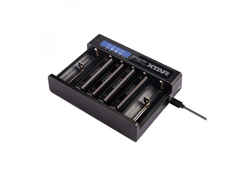 Φορτιστής μπαταριών εξαπλός XTAR MC6 Plus για 10440/14500/14650/16340/17335/17500/17670/18350/18490/18500/18650/18700/22650/25500/26650