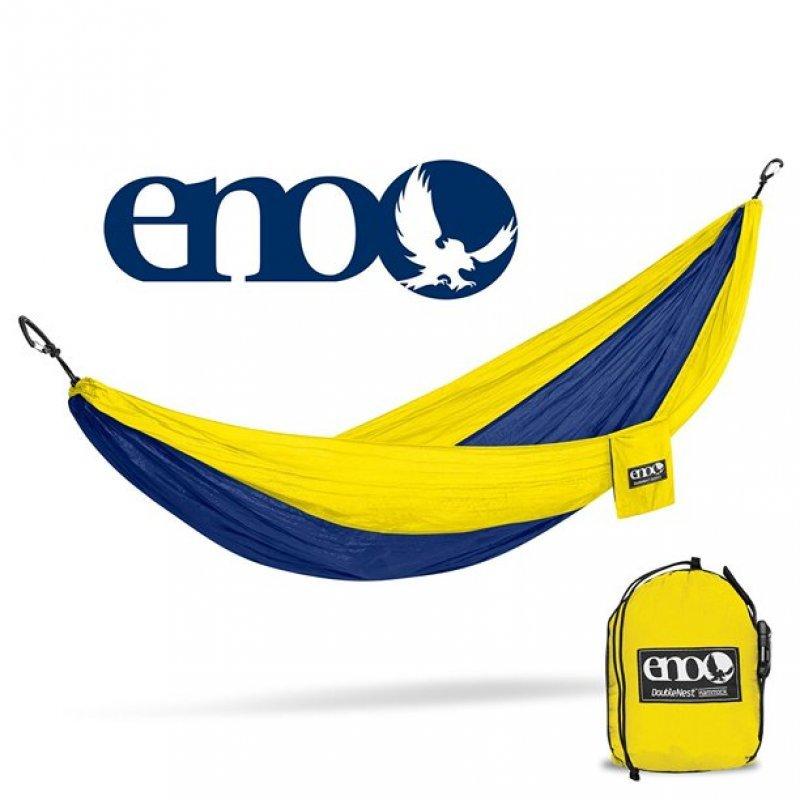 Eno-007 Αιώρα Υπέρδιπλη Double Deluxe Sapphire/Yellow