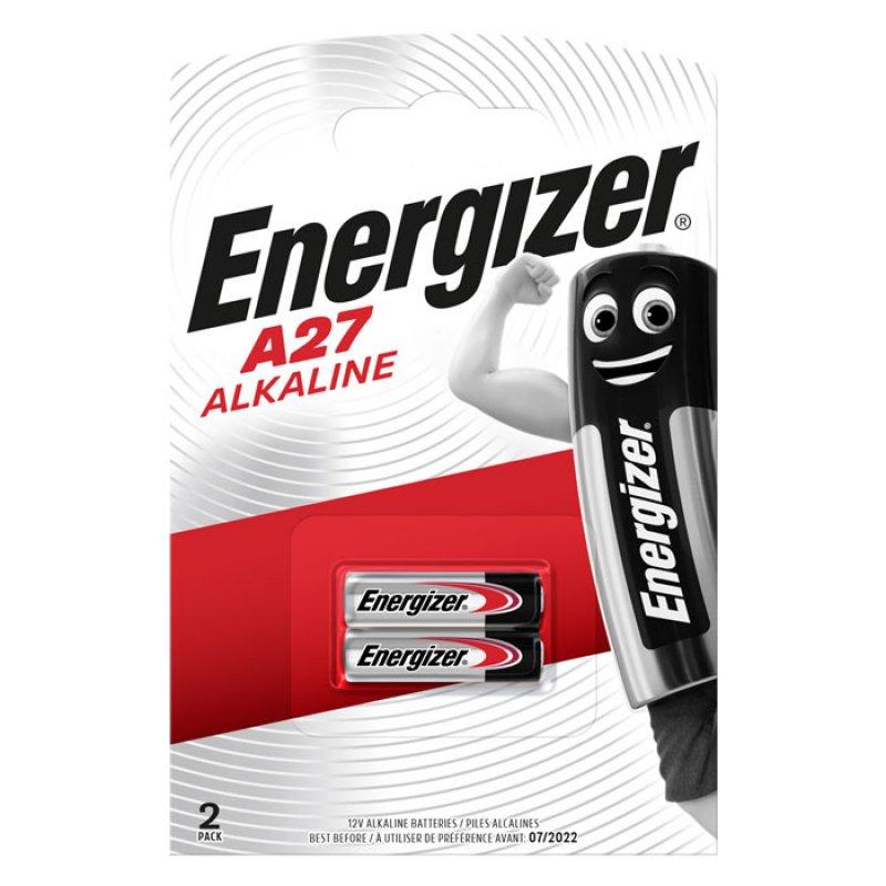 Αλκαλικές Μπαταρίες Energizer A27 12V σε Blister με 2 Μπαταρίες.