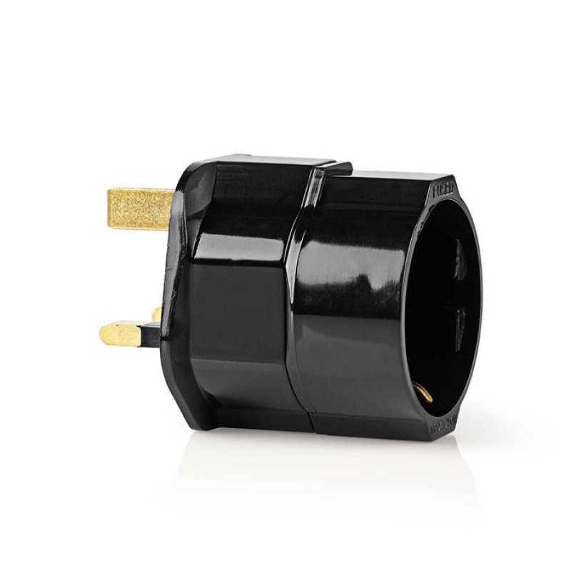 NEDIS TRAV01BL Travel Adapter EU to UK Black
