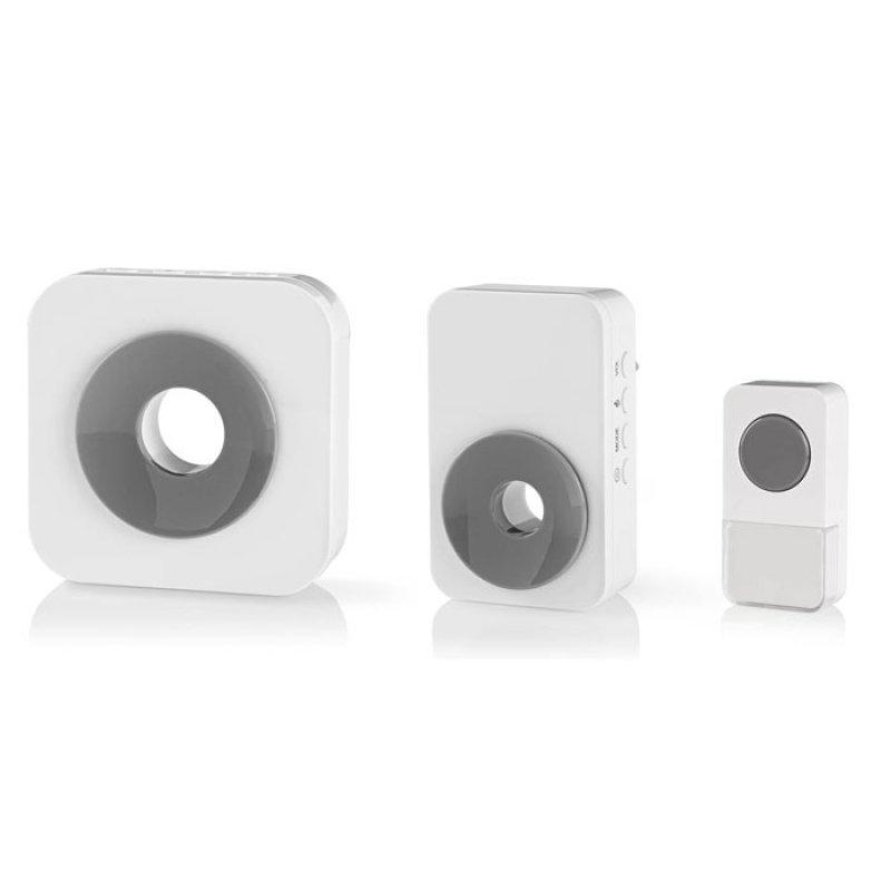 Ασύρματο Κουδούνι 2 Δεκτών με Δυνατότητα Αυξομείωσης της Έντασης του Κουδουνιού, 90 dB.