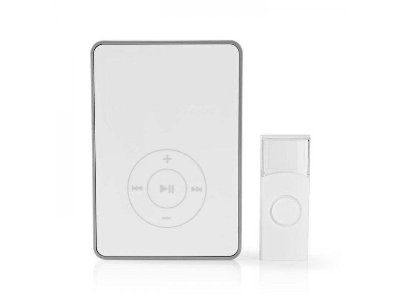 Ασύρματο κουδούνι, με θύρα mini USB και θύρα κάρτας microSD για αναπαραγωγή ήχου MP3, 80dB.