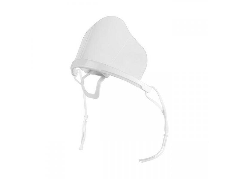 Διάφανη Πλαστική Προστατευτική Μάσκα Προσώπου Πολλαπλών Χρήσεων, Σε Λευκό Χρώμα FACE-J1