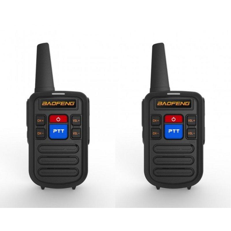 2 Τεμάχια Baofeng BF-C50 Mini Φορητοί Επαγγελματικοί ασύρματοι Uhf για ερασιτεχνική ή επαγγελματική χρήση