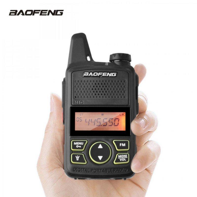2 Τεμάχια Baofeng T1 μίνι Φορητοί Επαγγελματικοί ασύρματοι Uhf για ερασιτεχνική ή επαγγελματική χρήση