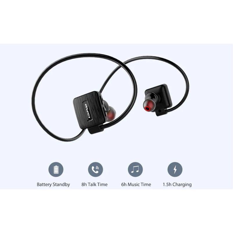 Αδιάβροχα ασύρματα bluetooth ακουστικά Αwei a848 bl