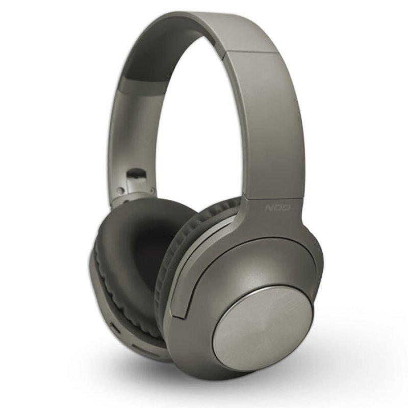 Bluetooth Over-Ear Ακουστικά Με Μικρόφωνο, Σε Γκρι Χρώμα