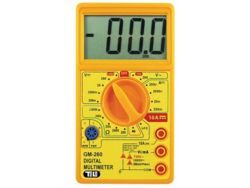 Πολύμετρο Ψηφιακό με μεγάλη οθόνη ενδείξεων LCD 4 Ψηφίων GM-260